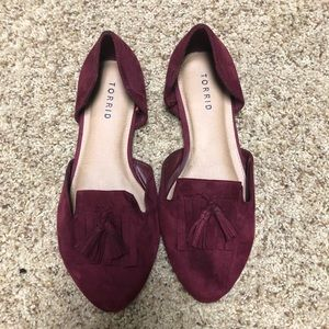 Maroon Suede Loafers